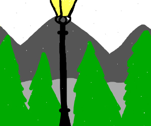 Lamp post from Narnia