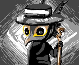 shady bird guy with a hat