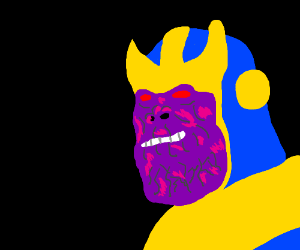 Close Up Purple Hulk Smiling Ominously