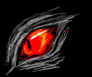 Eye of a dark shadow