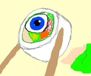 Eyeball sushi