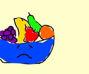 sad bowl of fruit