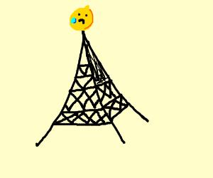 Lemons crying on top of eiffle tower