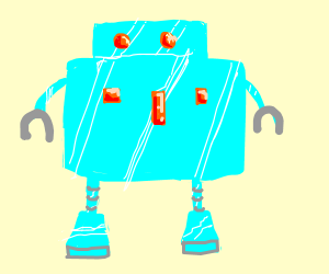 ice robot drawing by din yp drawception