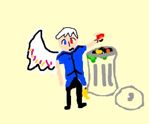 edgy anime ocs rob a trashcan