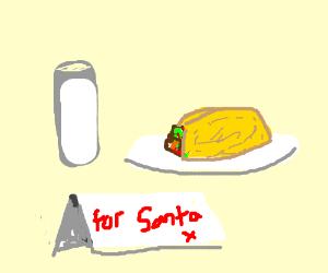 Leavig tacos and milk for santa