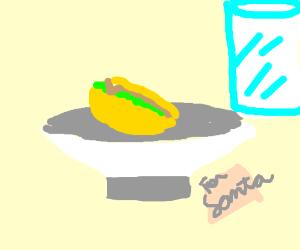 Taco and milk for Santa