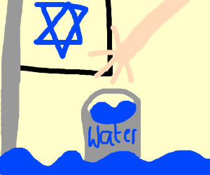 Jewish people have water