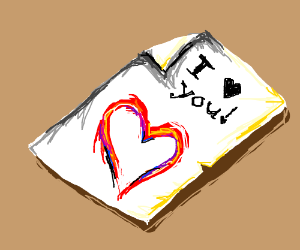 a love note!