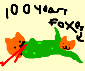the hundred years' war but with foxes