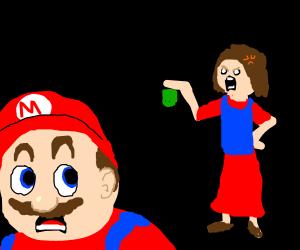 Mario's mom yells at him