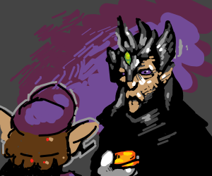 Waluigi makes shady deal with Elf Wizard King