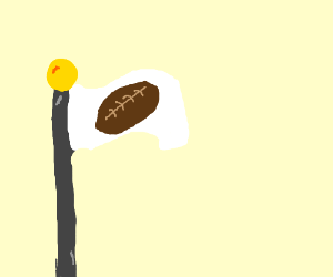 football design on a flag