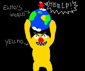 Yellmo takes over Elmo's World