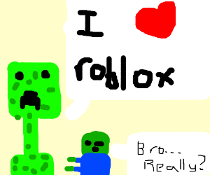 Red Creeper Minecraft Puts An End To Roblox Drawception