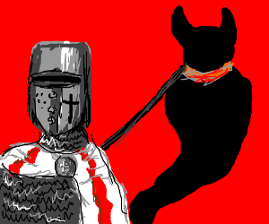 Knight with pet shadow demon