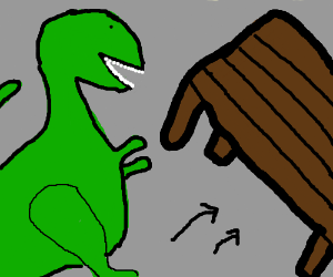 Table flippin' T- Rex.
