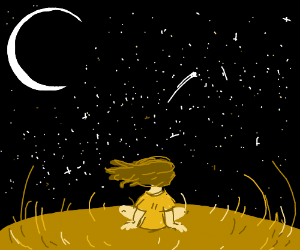 A lonely night among the stars