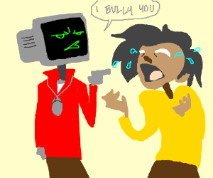 Computer bullies kid