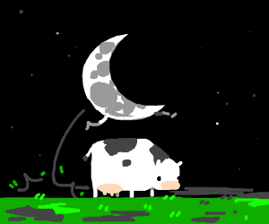 classic subversion The Moon jumps over the cow