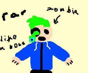 Oh no ... it's zombie jacksepticeye! +screach+