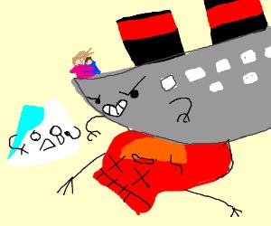 titanic crushing a bag of chips