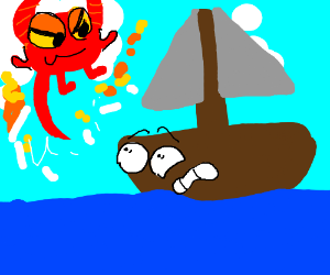 Demon comes from clouds, attacks boat guy
