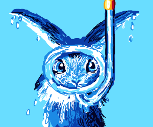 Bunny goes Snorkeling
