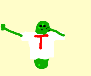 dabbing pickle in a t-shirt