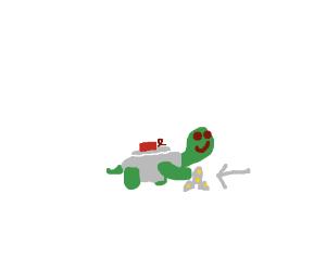 mine turtle but with a shuriken