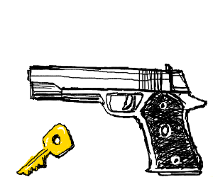 Gun goes off with key