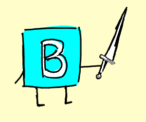 Image result for letter B cartoon sword