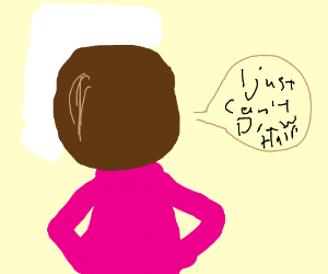 A lady cant draw hair