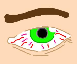 stoned eye drawing by tipsyredranger