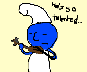 Smurf with a gift