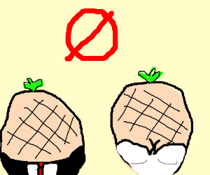 The cantaloupe can't elope