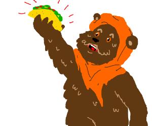 ewok with taco