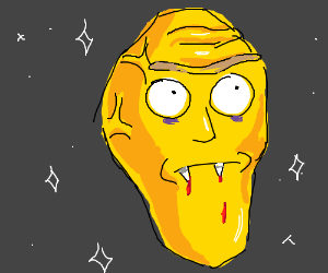 Talking Head (but a vampire) from Rick & Morty
