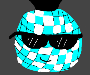 disco ball guy in sunglasses