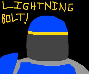 Lightning bolt! dude