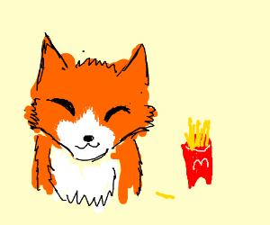 Fox at McDonalds