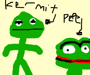 A Kermit and Pepe child