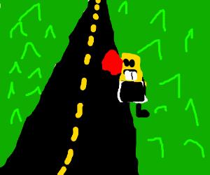 SpongeBob road kill
