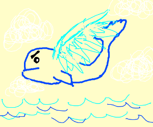 whale with wing