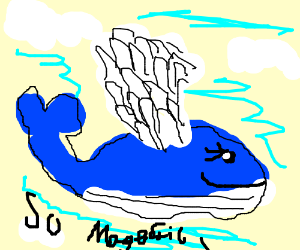 Magestic flying whale