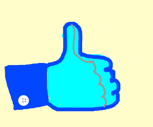 Facebook thumbs up for the word Scronch
