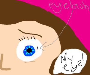 When your eyelash gets caught in ur eye