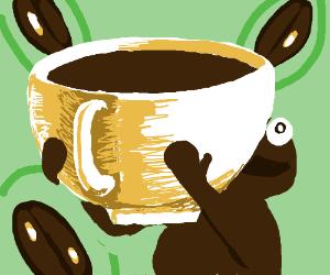 Coffee monster got the jumbo sized mug!