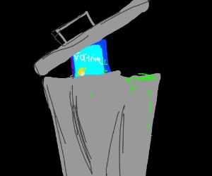 fortnite in a trashcan