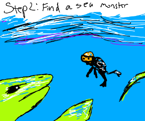 Step 1: Hunt for clams in the ocean